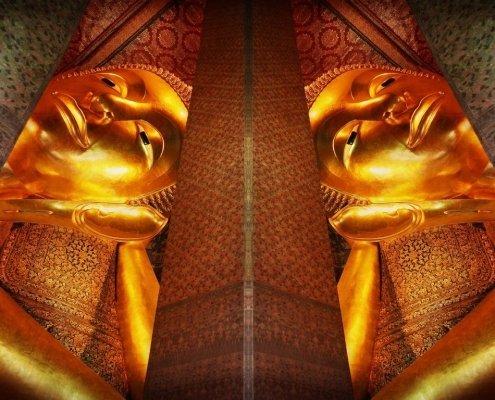 Burasari Thai Art Reclining Buddha Face Alessio Cocchi
